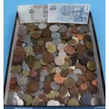 Collection of coins, notes etc