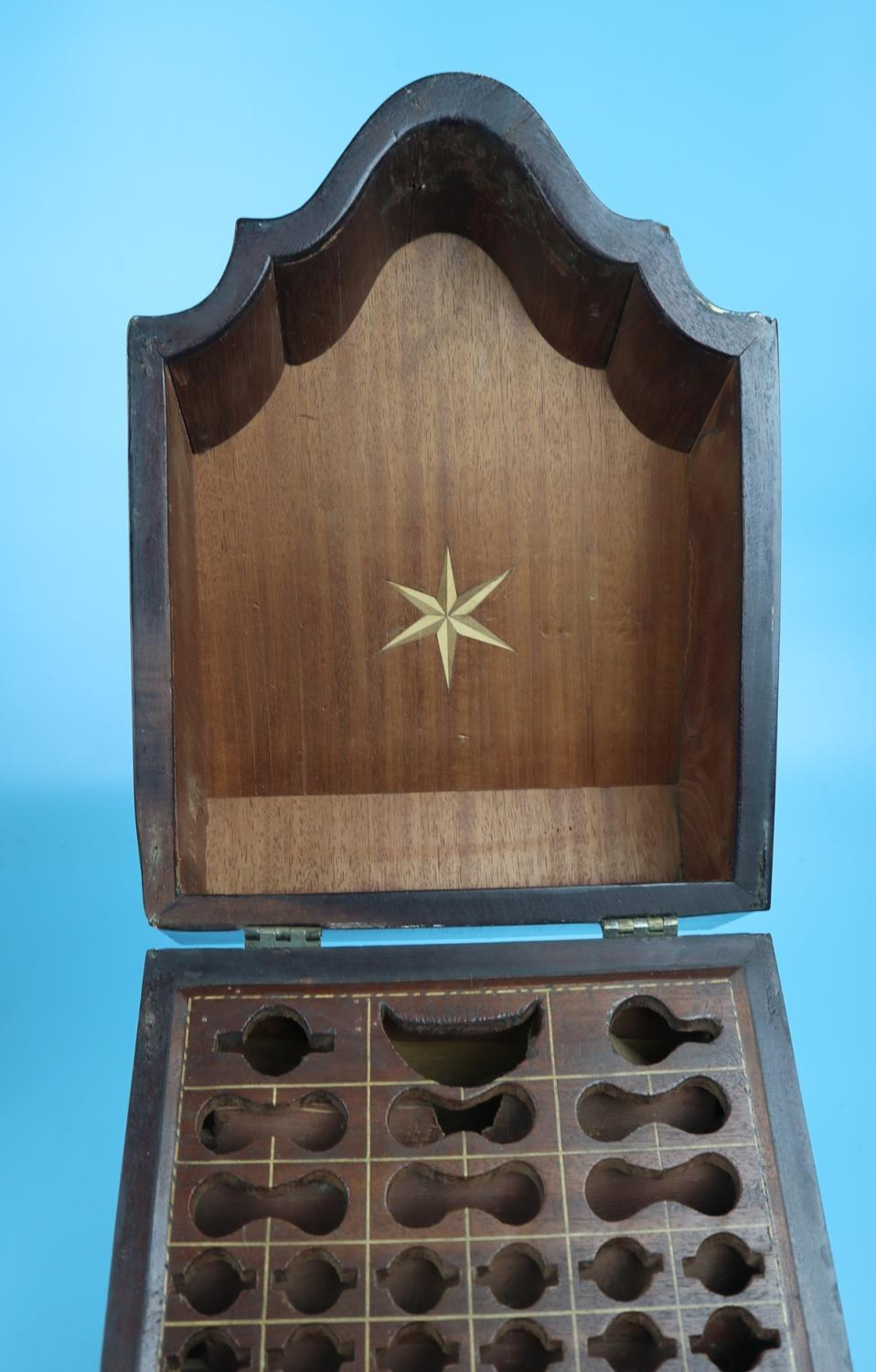 Pair of Georgian mahogany knife boxes with fitted interiors - Image 14 of 17