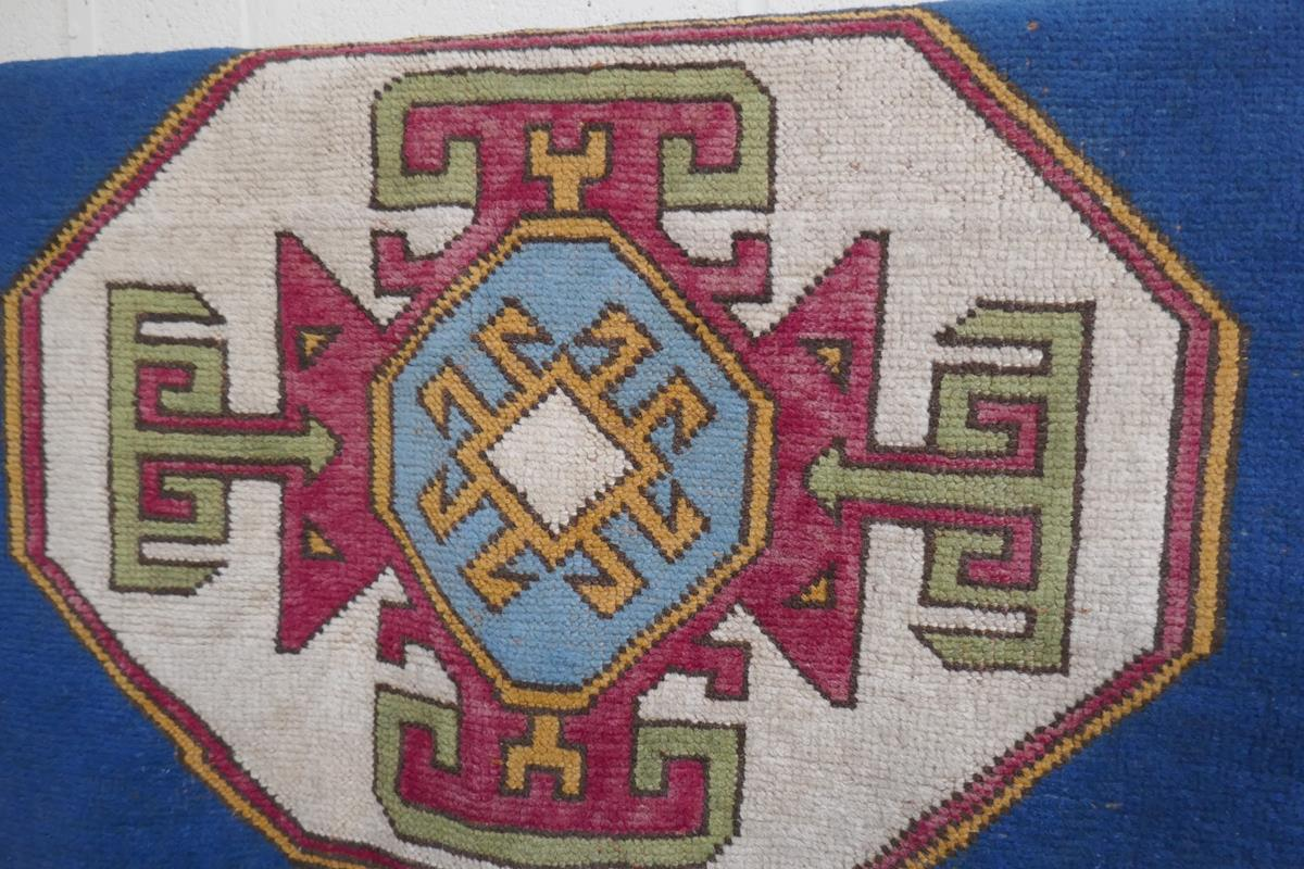 Antique rug - Approx 128cm x 162cm - Image 2 of 4