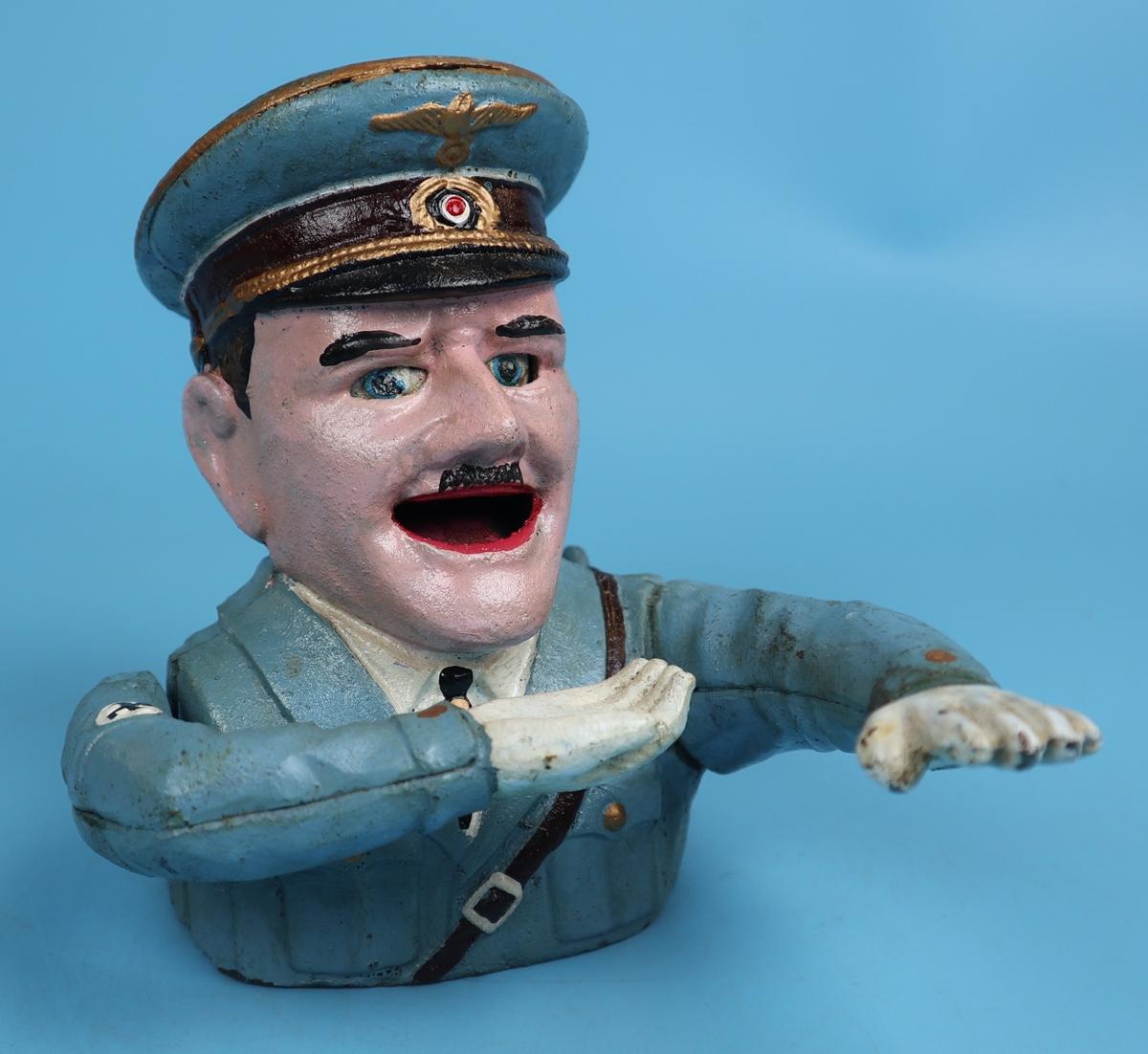 Cast iron novelty Hitler money box