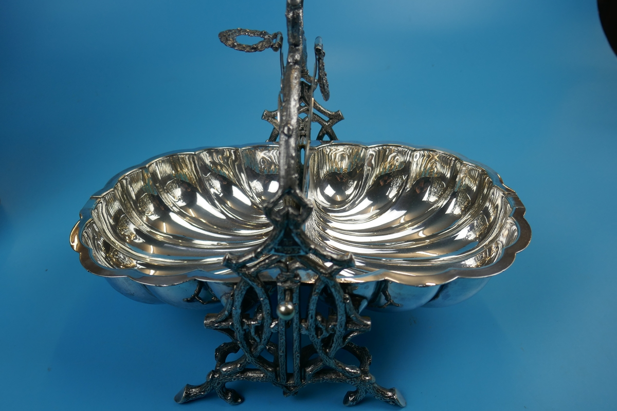 Antique ornate Victorian silver plated biscuit box by Walker and Hall - Rd 36762 - Image 9 of 9