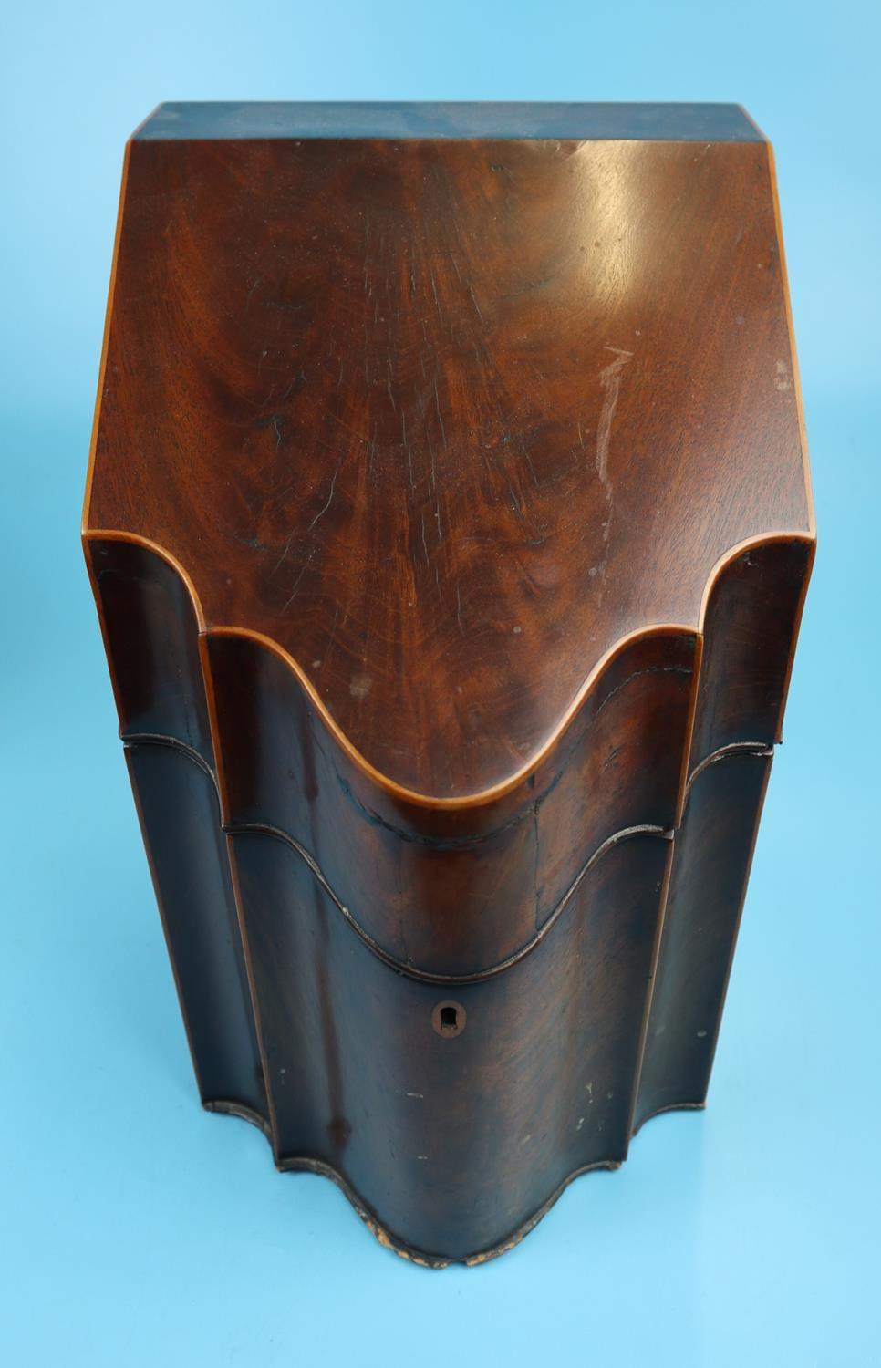 Pair of Georgian mahogany knife boxes with fitted interiors - Image 11 of 17