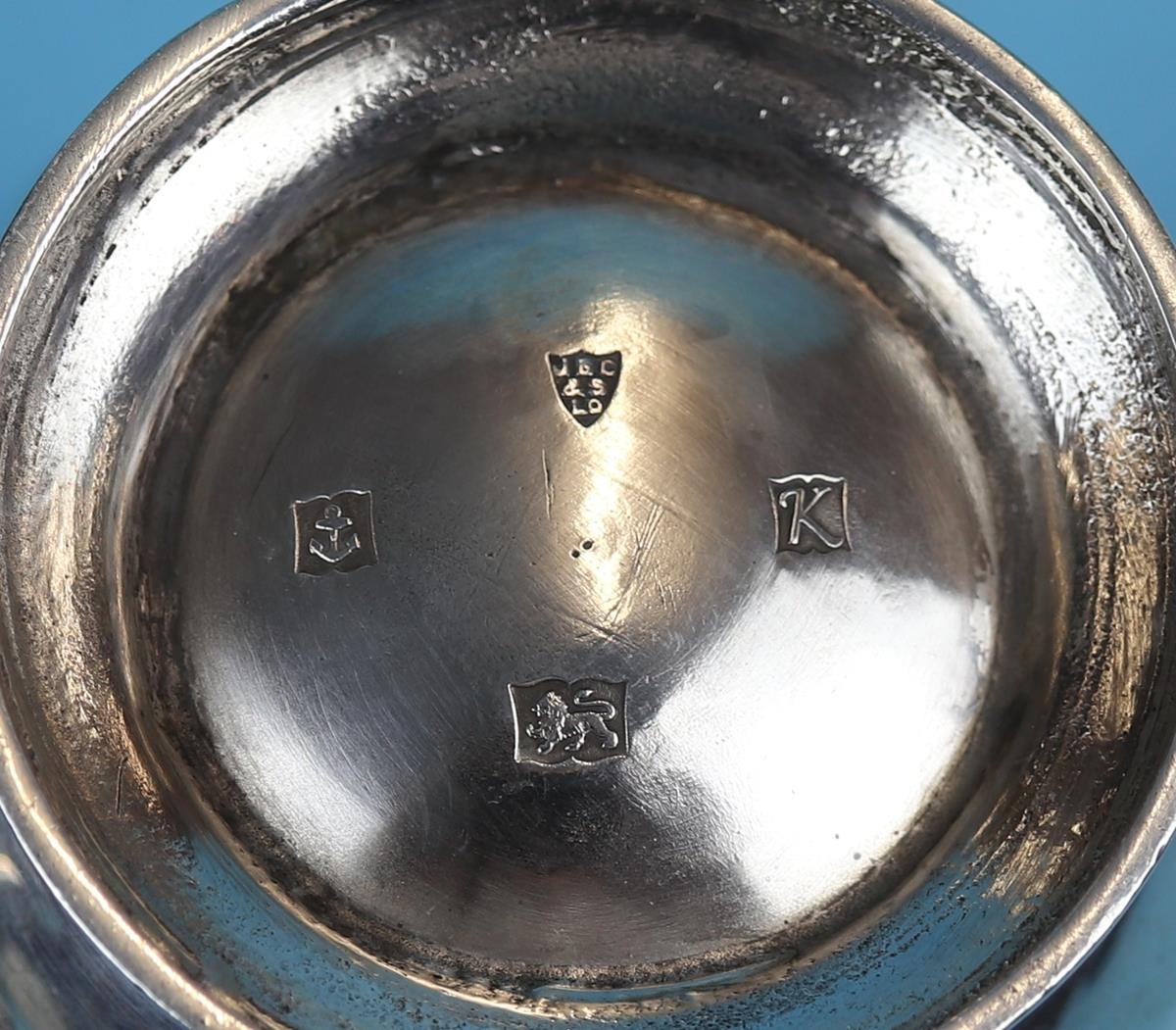 Hallmarked silver sugar bowl & cream jug - Birmingham - JBC & Sons Ltd - Approx weight 157g - Image 3 of 3