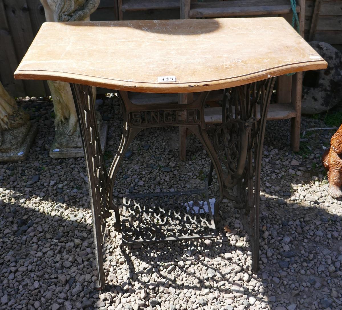 Singer sewing machine base table