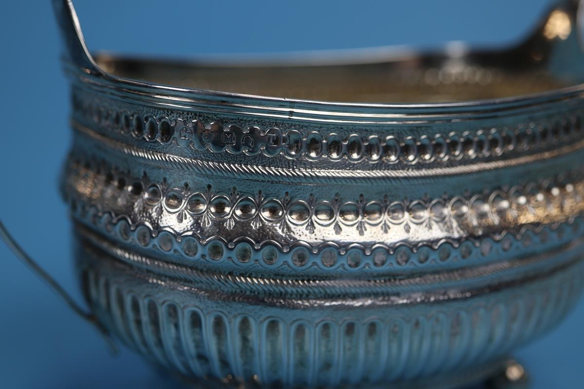 Hallmarked silver 2 handled sugar bowl - Makers mark TD - Approx weight 226g - Image 2 of 3