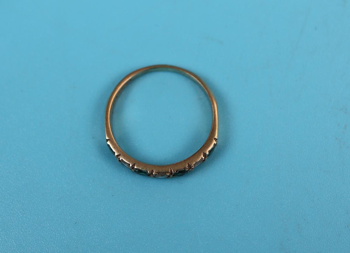 Gold stone set half hoop eternity ring - Image 2 of 2