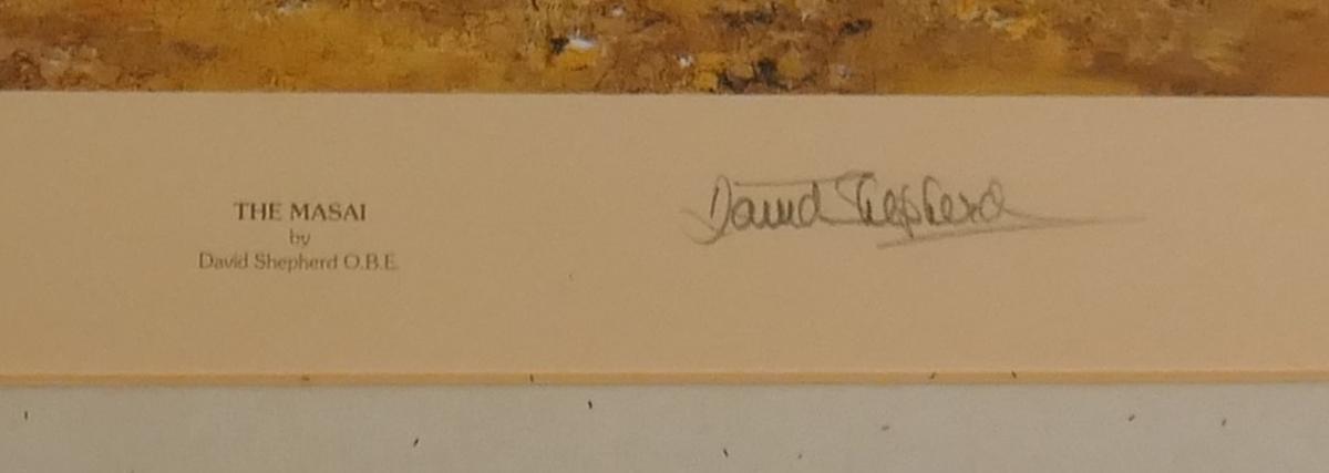 Signed L/E David Shepherd print - The Masai - Image 2 of 4