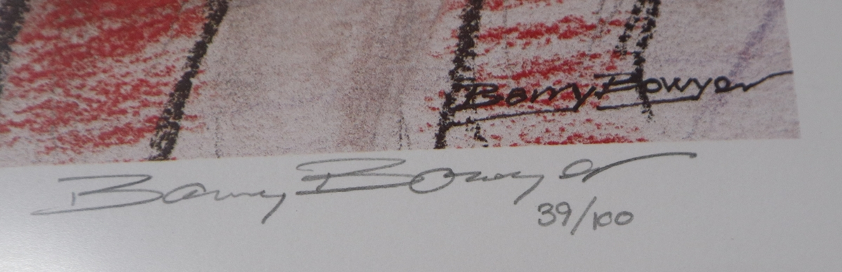 Sterling Moss print by Barry Bowyer - L/E & Signed - Image 3 of 3