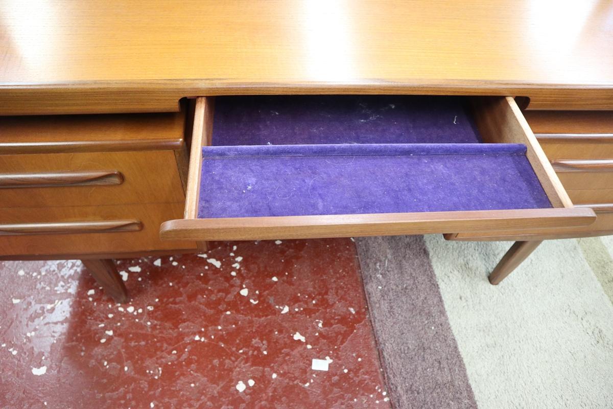 Time warp G-Plan dressing table with original G-Plan label in drawer - Image 7 of 8