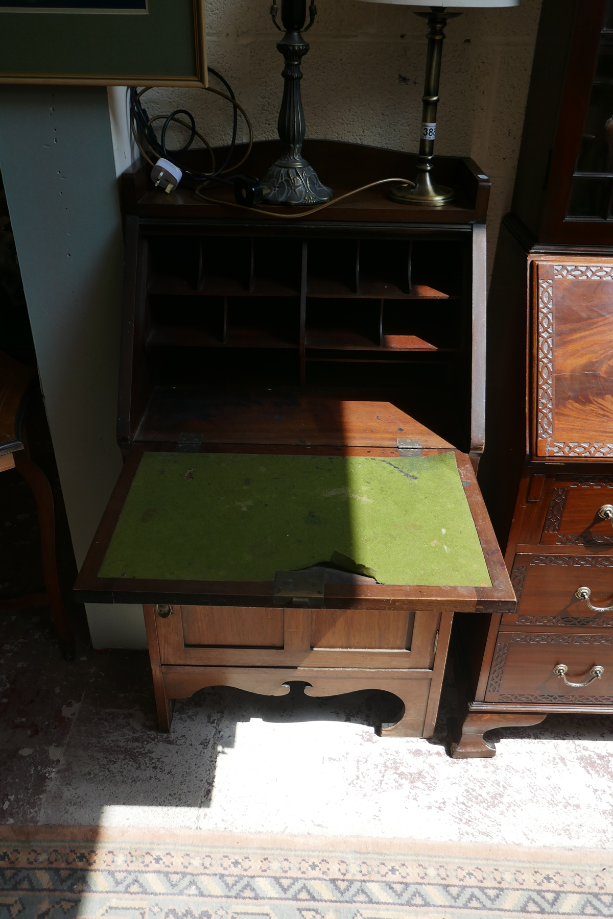 Mahogany Art Deco bureau - Image 3 of 4