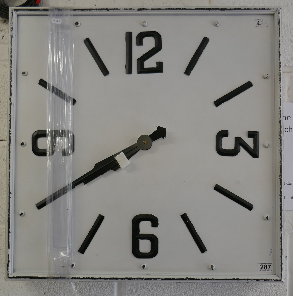 Station style wall clock