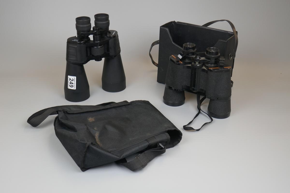 2 sets of binoculars