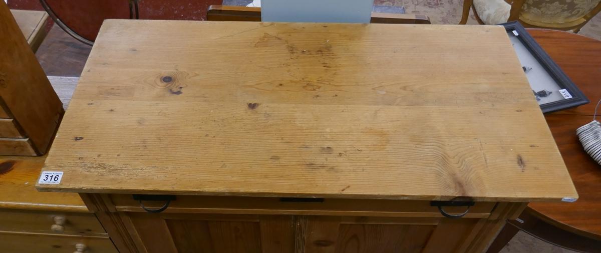 Antique pine cupboard - Approx W: 97cm D: 46cm H: 124cm - Image 2 of 2
