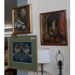 3 framed tapestries