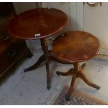 2 yew wood occasional tables