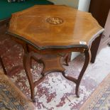 Inlaid rosewood occasional table