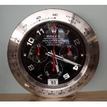 Good quality reproduction Rolex advertising clock with sweeping second hand - Daytona