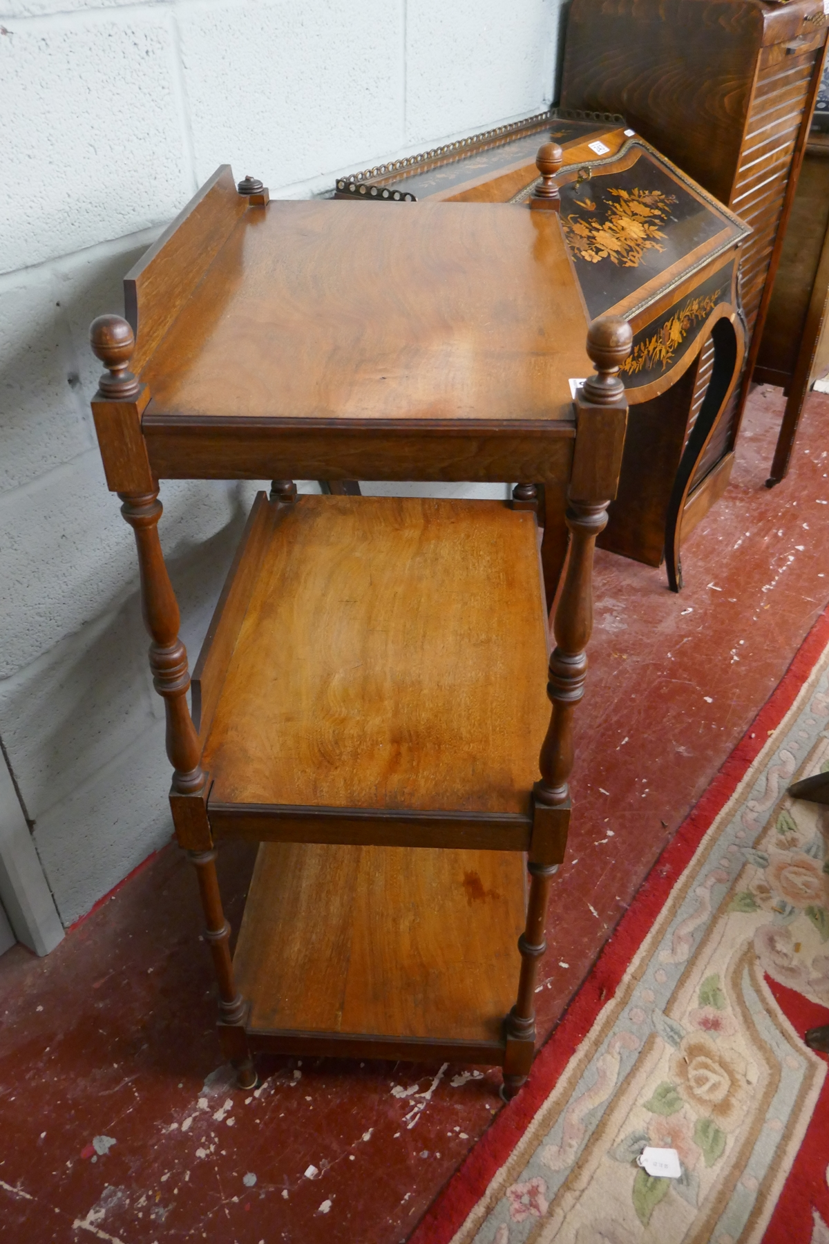 Mahogany 3 tier buffet stand - Image 5 of 5