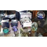 Collection of boxed paperweights