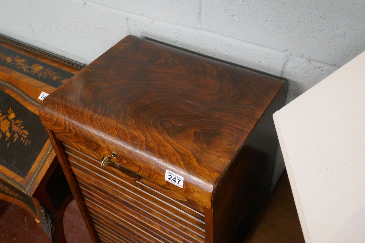 1930S tambour front cabinet - Approx W: 44cm D: 36cm H: 110cm - Image 2 of 4