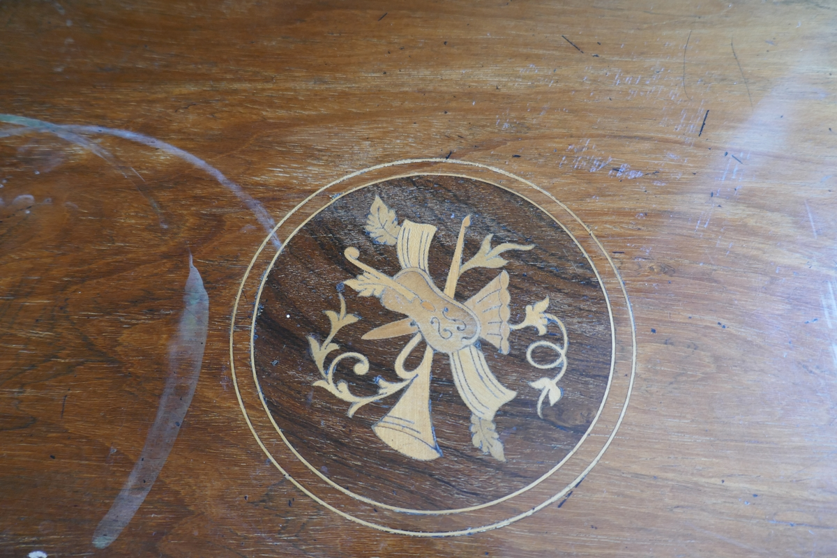Inlaid rosewood occasional table - Image 2 of 2