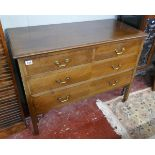 Mahogany chest of 2 over 3 drawers