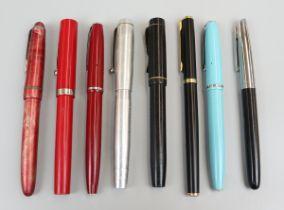 8 fountain pens