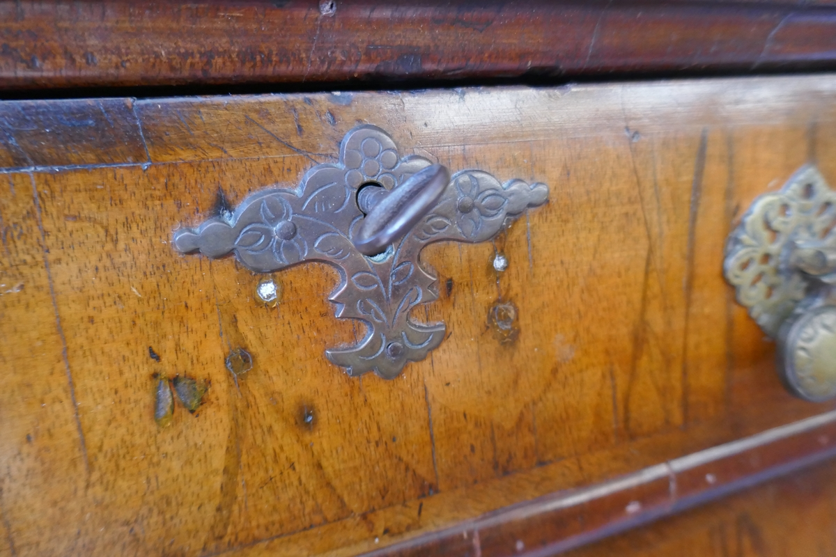 Early walnut chest on stand - Approx W: 97cm D: 56cm H: 150cm - Image 4 of 13