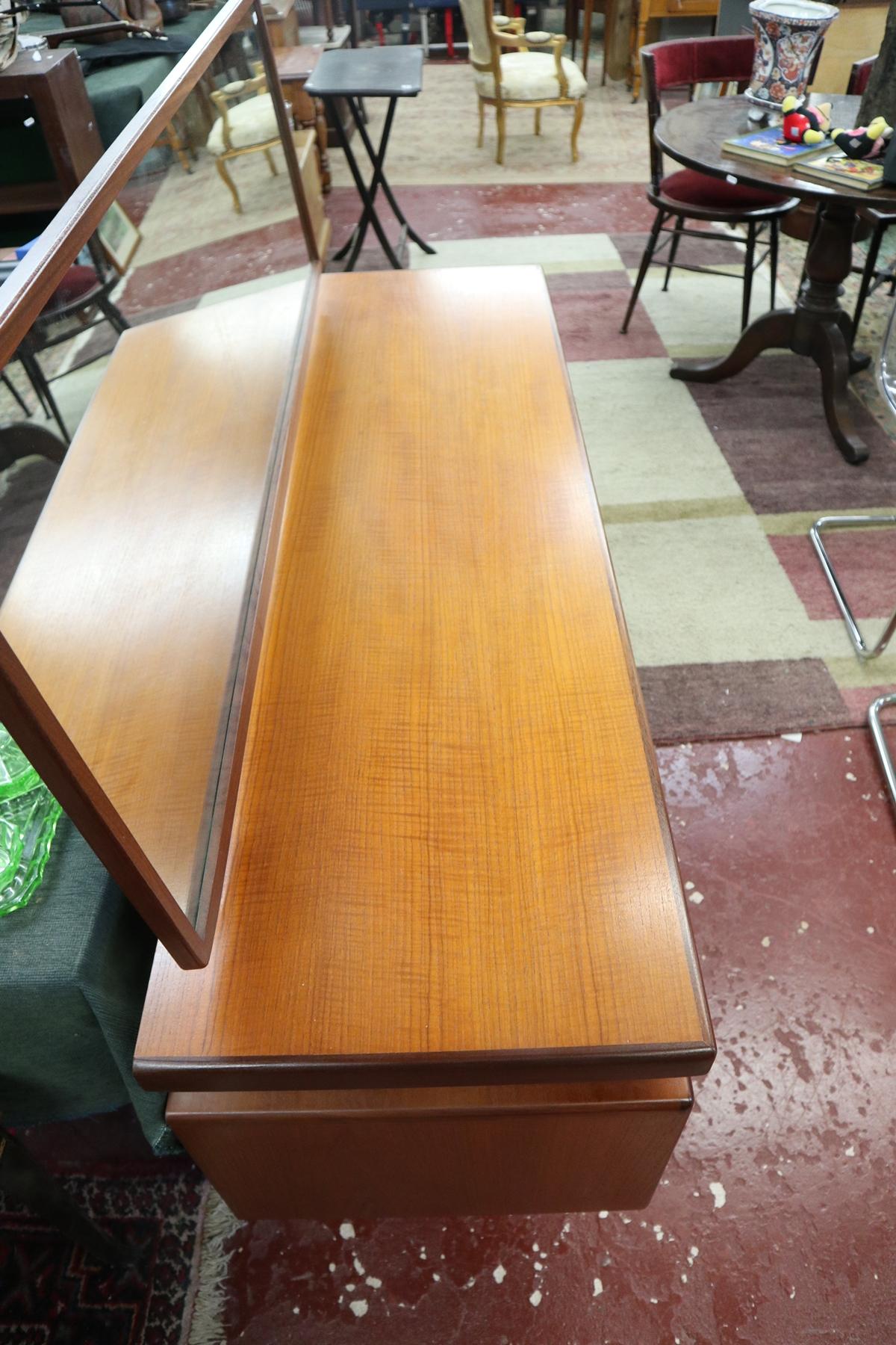 Time warp G-Plan dressing table with original G-Plan label in drawer - Image 3 of 8