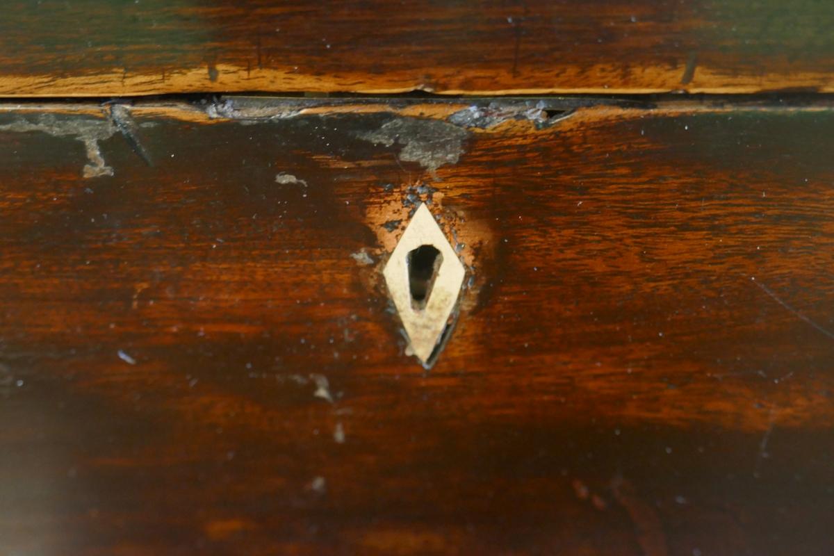 Tea caddy and small mahogany trinket box - Image 3 of 4