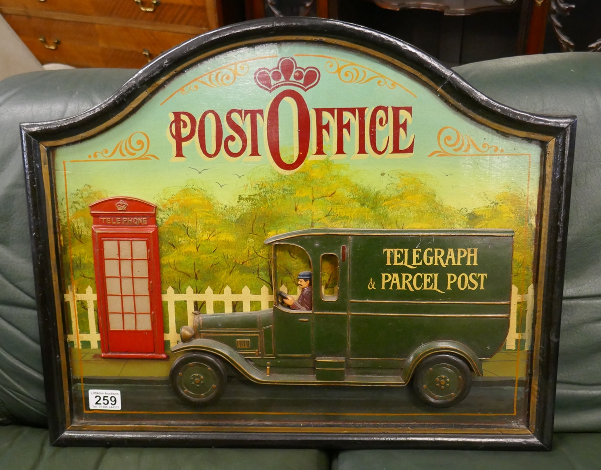 Post office relief sign