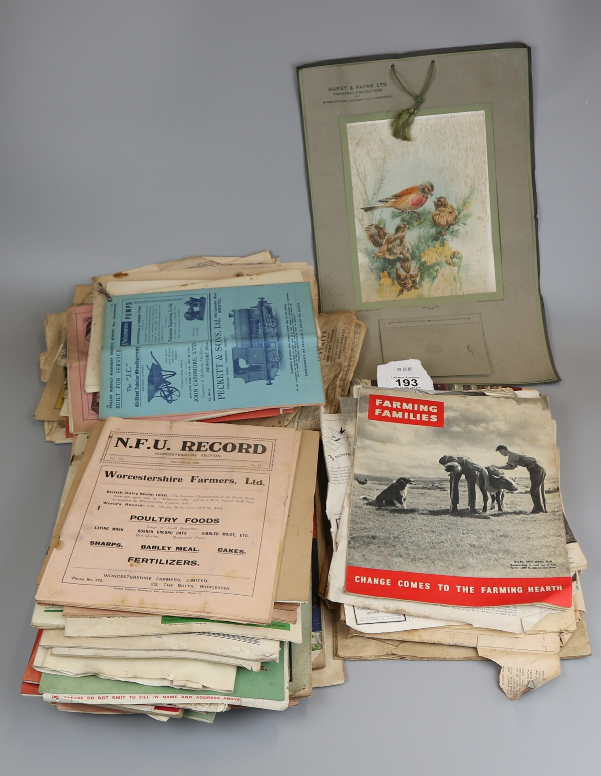 Collection of various early magazines