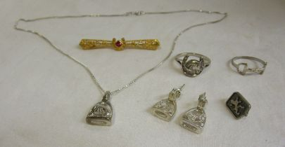 Collection of equestrian jewellery