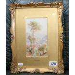 Ebeneeza Wake Cook - Small watercolour in ornate gilt frame - Vietri, South Italy