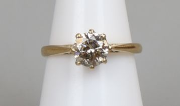 18ct gold diamond (approx 1ct) solitaire ring