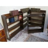 3 matching bookcases & another