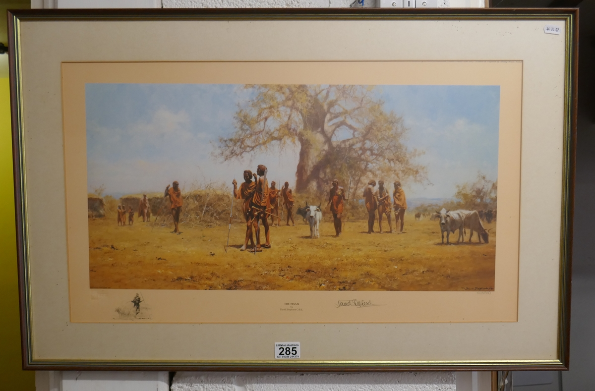 Signed L/E David Shepherd print - The Masai