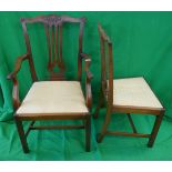 Set of 6 chairs to include 2 carvers
