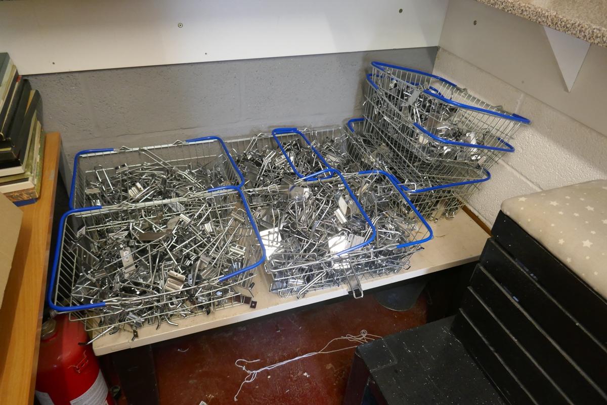 6 baskets of slat wall hangers and hooks - Image 2 of 2
