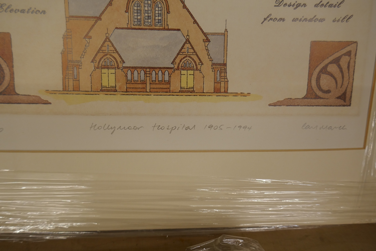 60 L/E signed architectural prints by Carl March to include duplicates - Image 5 of 8