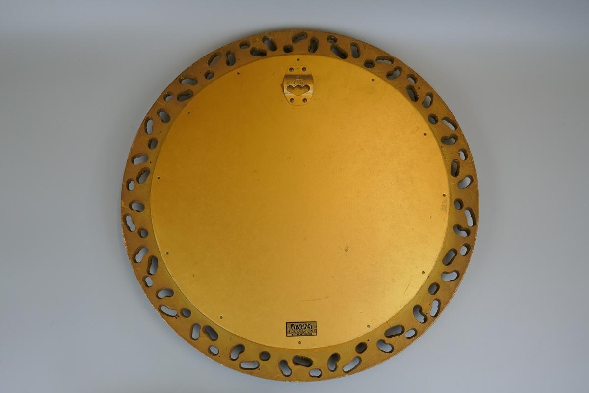 Round gilt framed mirror - Image 2 of 5