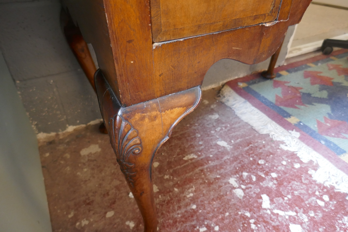 Early walnut chest on stand - Approx W: 97cm D: 56cm H: 150cm - Image 12 of 13
