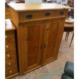 Antique pine cupboard - Approx W: 97cm D: 46cm H: 124cm