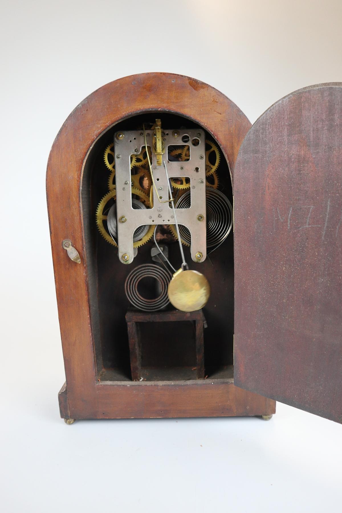 Inlaid mantle clock - Image 6 of 6