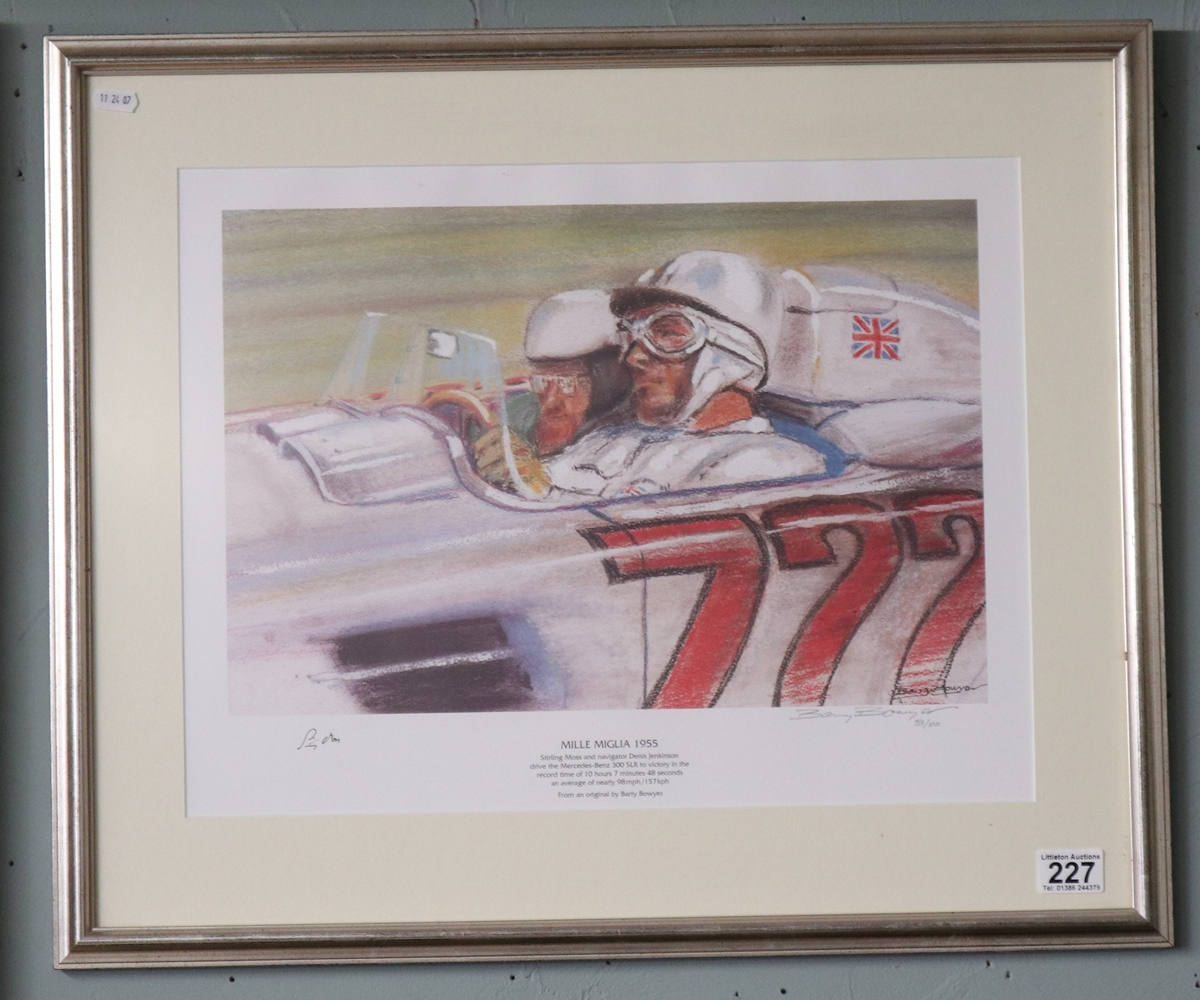 Sterling Moss print by Barry Bowyer - L/E & Signed