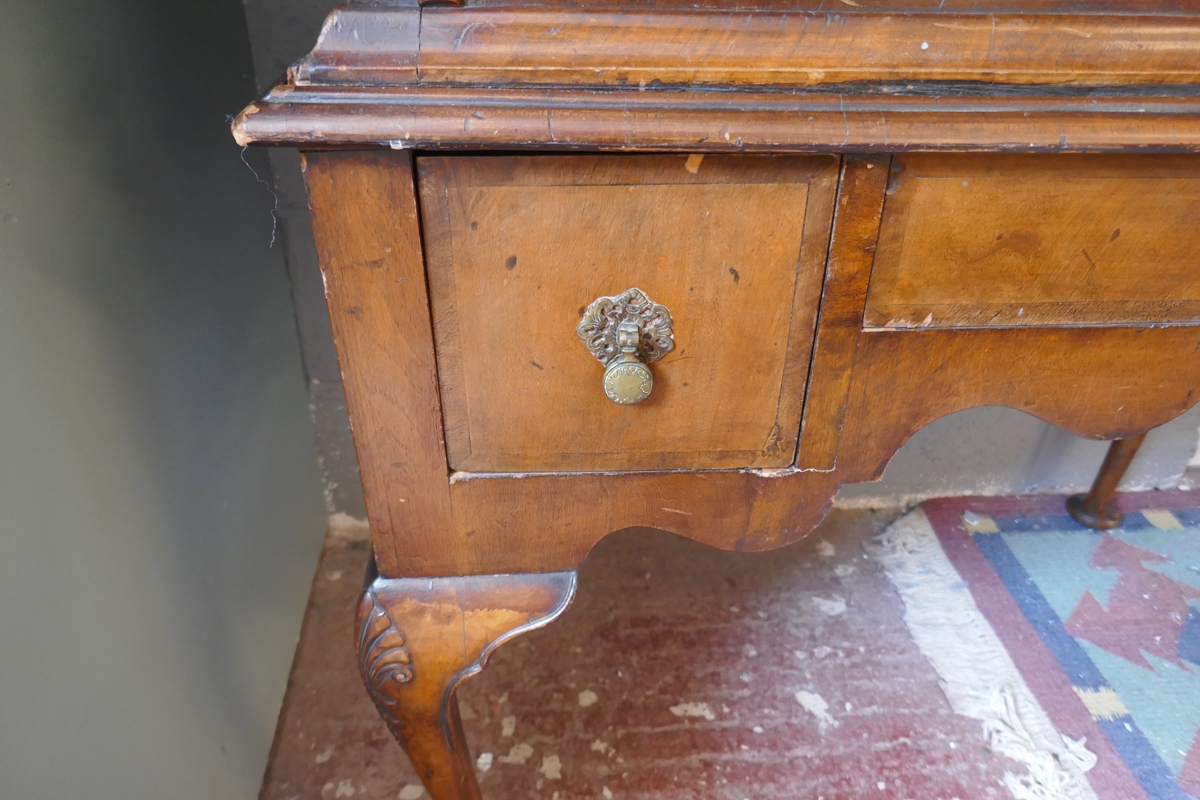 Early walnut chest on stand - Approx W: 97cm D: 56cm H: 150cm - Image 11 of 13