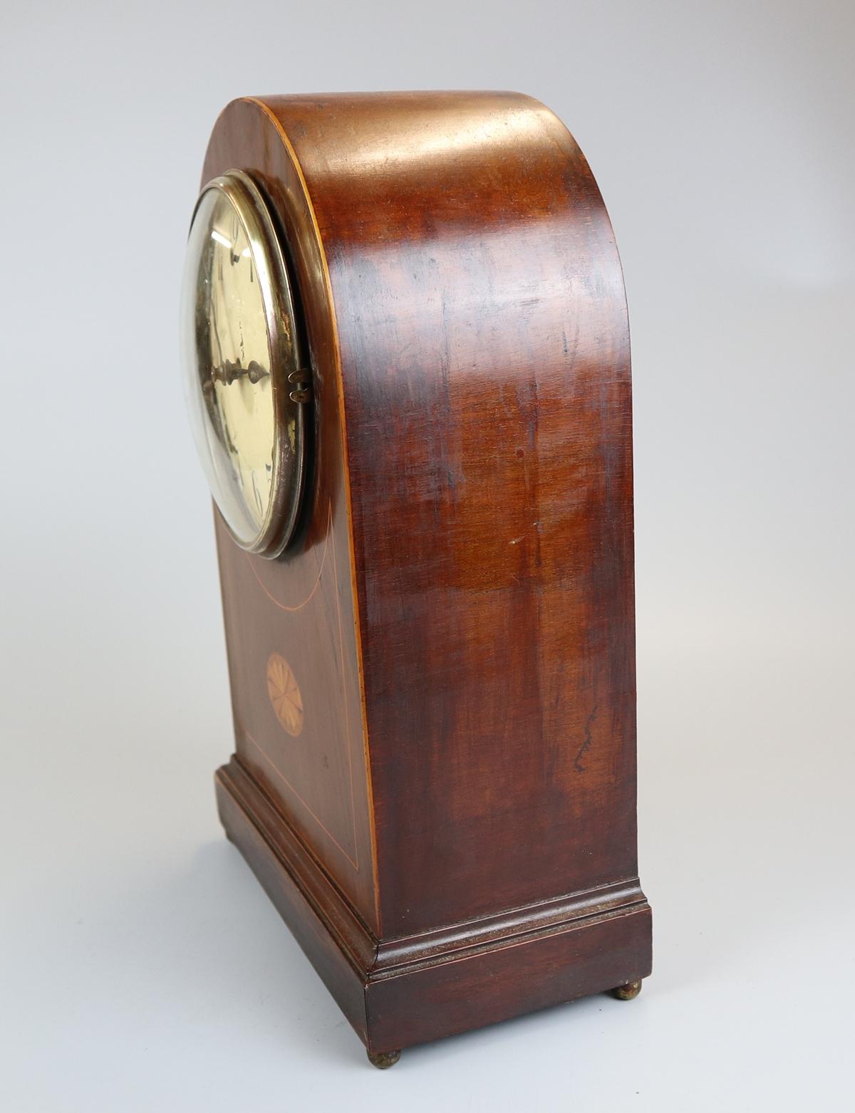Inlaid mantle clock - Image 5 of 6