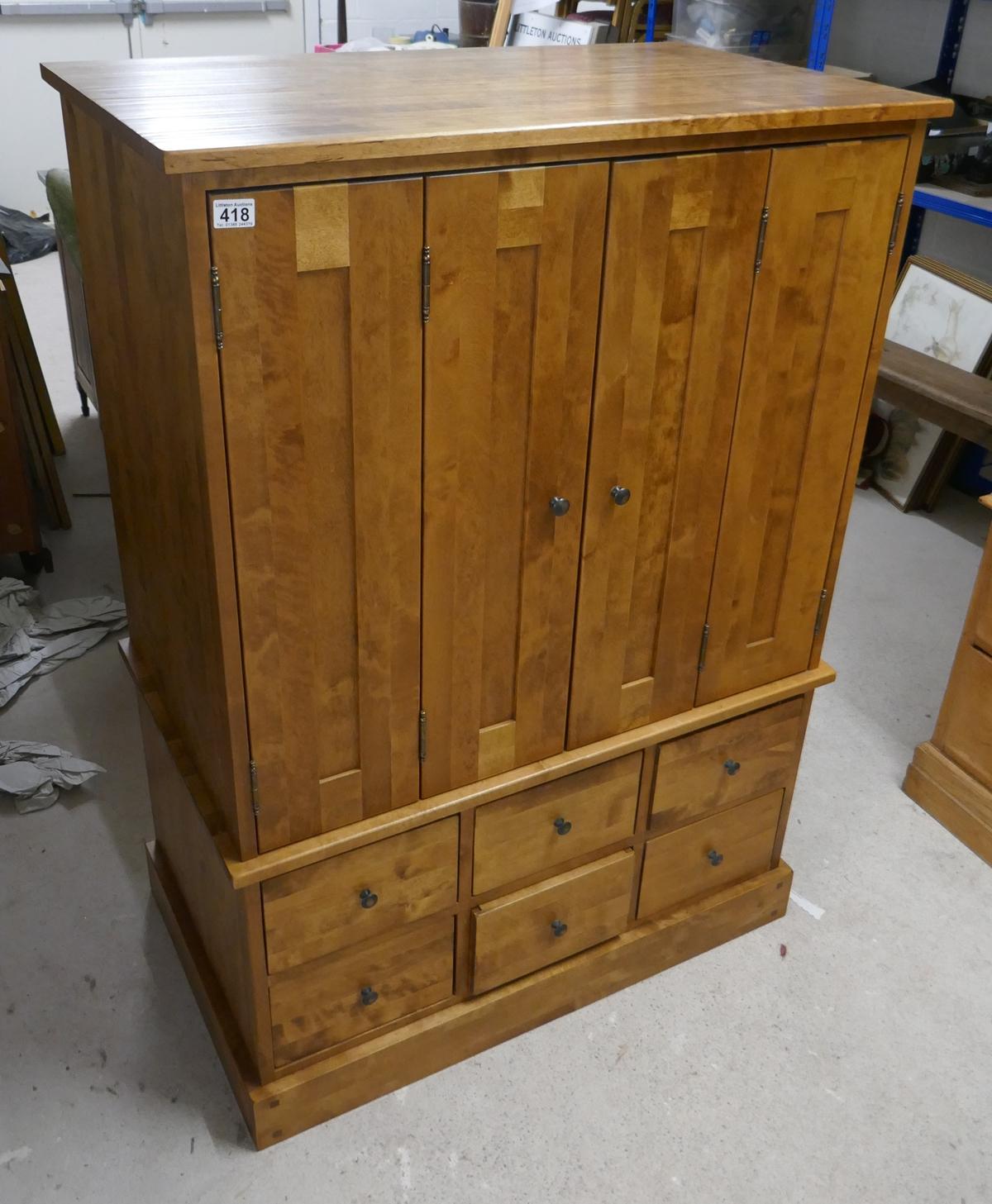 Good quality hardwood TV cabinet