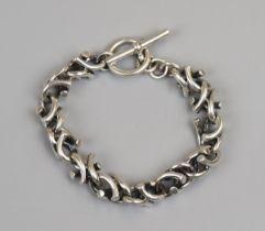 Heavy designer silver bracelet