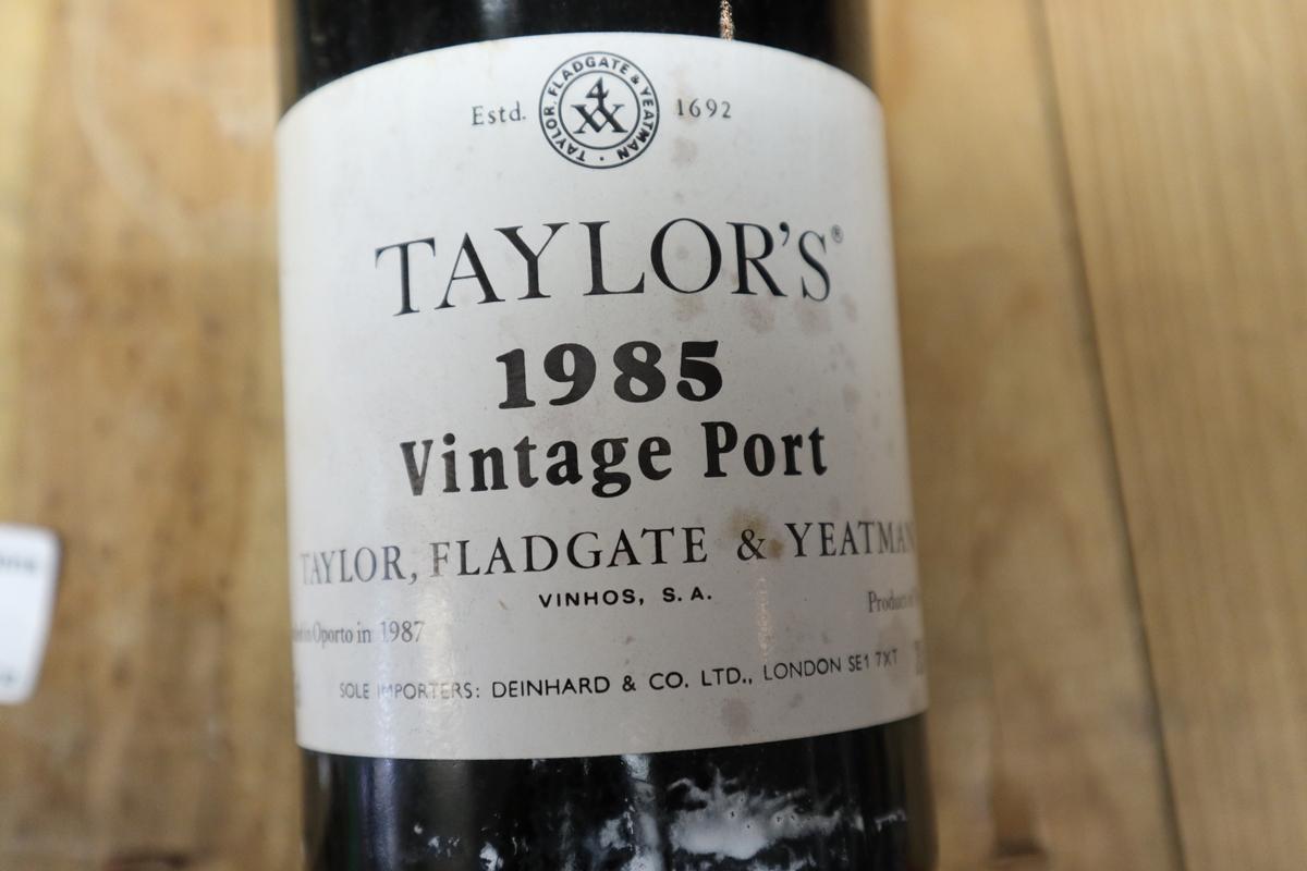 2 bottles of Taylors 1985 Vintage port in original box - Image 2 of 2